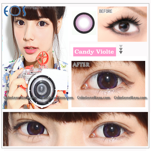 EOS CANDY Violet Colored Contacts (PAIR)
